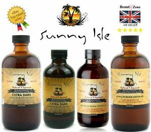 Sunny Isle Jamaican Black Castor Oil Thicker Longer Eyelash Hair Growth Oil