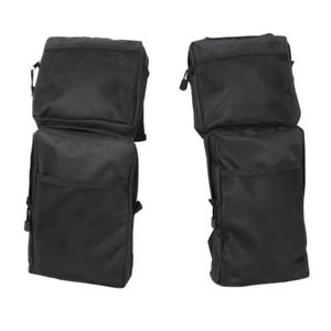 2pcs Front Rear  ATV Pack Storage Bag Black