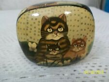 Hand Painted Paper Mache Lacquered Trinket Box