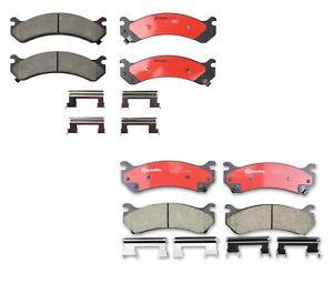 Brembo Front & Rear Ceramic Brake Pads Kit For Silverado Sierra 1500 2500 HD H2