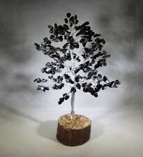 BLACK AGATE STEP STYLE GEMSTONE CHIP TREE WITH 300 STONES CRYSTAL TREE OF LIFE