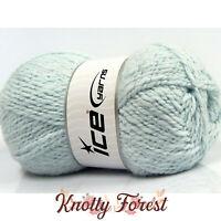 Baby Wool Glitz Ice Yarn BABY BLUE Wool Acrylic Bulky Chunky Weight 174yd Luxury
