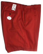 """Saddlebred Mens Shorts 50 Red Coral 10"""" Inseam Cotton Spandex Classic Fit NEW"""