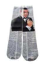 Art N Wordz Apparel James Bond 007 Dictionary Pop Art Unisex Socks