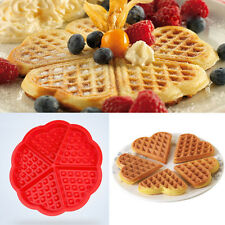 Silicone Waffle Mold Maker Pan Microwave Baking Cookie Cake Muffin Bakeware DIY