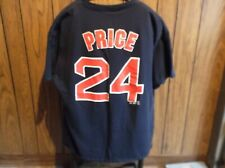 David Price shirt jersey Boston Red Sox XL blue short sleeve Majestic
