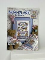 NOAH'S ARK FOR BABY 19 DESIGNS LINDA GILLUM COUNTED CROSS STITCH LEAFLET #2521