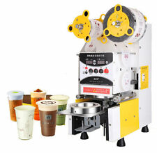 New Full Automatic Bubble Tea Cup Sealing machine Fruit Juice Cup Sealer 220V T