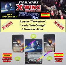 STAR WARS X-WING 2017 T3 OP KIT ESPAGNOL - Chef Omega + 3 Jetons + 2 Tiro précis