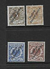 German South West Africa 1898/1900 selection to 50pf mm