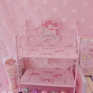 My Melody Small Iron Frame Shelf Iron Desktop Display Organizer Pink Christmas