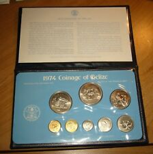 1974 Coinage of Belize 8 Coin w/COA Franklin Mint Specimen Set