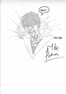 Original signed Sketch Art by Mike Perkins Nightcrawler X-Men (signiert)