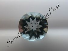 Natural 6mm Loose Round Cut .71ct Aquamarine AAA