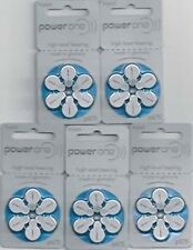 Hearing Aid Battery powerone P675  P 675 Fresh Stock 6 X 10 Pack  Exp :03/2021