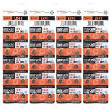 40 NEW LR41 MAXELL AG3 392A 192 SR41 LR736 CX41 392 BATTERY