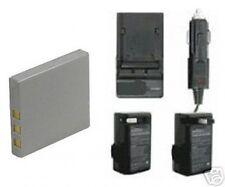 Battery + Charger for Fuji FujiFilm V10 Z1 Z2 Z3 Z5fd Z5 FD F5 FD