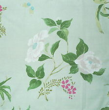 SANDERSON Madame Butterfly Green Floral Cotton Remnant New