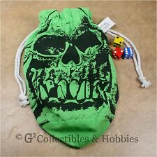 NEW Extra Large Green Orc Skull Dice Bag RPG Game Gaming D&D Crystal Caste