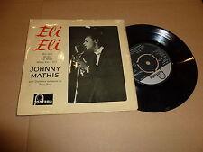 "JOHNNY MATHIS - Eli Eli - 1957 UK 7"" Vinyl EP Single with sleeve"