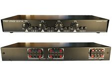 4ZONE Speaker Selector Switch Switcher w Volume Control