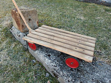 alter  Handwagen Holz  Transportwagen  Leiterwagen
