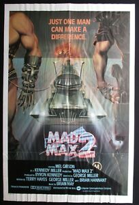 MAD MAX 2 1981 Original movie poster Mel Gibson Bruce Spence Aussie classic