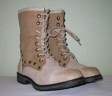 WOMENS SHOES SAND BEIGE ROXY MILITARY BOOTS BOOTIES NEW US 7.5 EUR 37.5 38 38.5