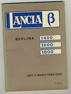 (39B) LANCIA BETA BERLINA 1400 / 1600 / 1800 uso e manutenzione 1973