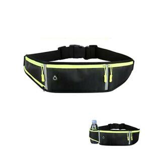 Running Belt Bag Waist Bum Bag with Water Bottle Holder Ideal for Keys & Phone