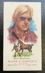 BOB BAFFERT 2007 TOPPS ALLEN & GINTER BAZOOKA BACK MINI ROOKIE CARD RC /25 #139