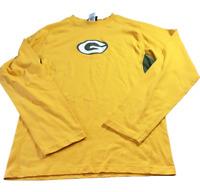 Green Bay Packers Reebok Long Sleeve NFL Football Shirt Mens Large