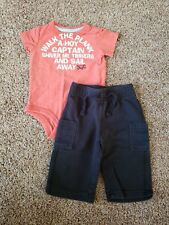 baby boy outfit size 6 months, 3-6 month outfit,  pirate bodysuit, black pants