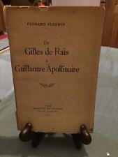 Fernand Fleuret - De Gilles de Rais à Guillaume Apollinaire - Mercure France B10