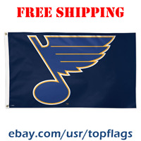 Deluxe St. Louis Blues Logo Flag Banner 3x5 ft 2019 NHL Hockey Fan Gift NEW