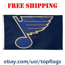 Deluxe St. Louis Blues Logo Flag Banner 3x5 ft 2019 NHL Hockey Fan Gift NEW