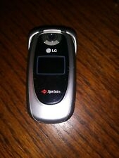 LG PM225 Sprint Cellphone Mobile Flip Phone Tested Working