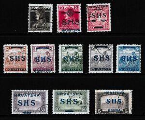 Yugoslavia 1918 SHS Overprints - Used selection - (230)