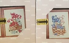 Lot of 2 NIP JANLYN COUNTED CROSS STITCH KITS FRUIT BASKETS WITH FRAMES