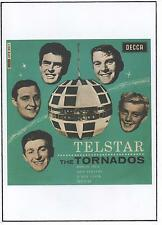 TORNADOS POSTER. Telstar, 60's pop, Joe Meek, Instrumental Music.