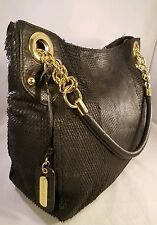 Cynthia Rowley purse shoulder bag amazing snake and ostrich pattern & gold metal