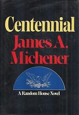 "JAMES MICHENER ""Centennial"" (1974) SIGNED First Printing in NEAR FINE Condition"