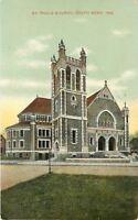 South Bend Indiana~St Paul's Roman Catholic Church~Green Stone~Tower~1910