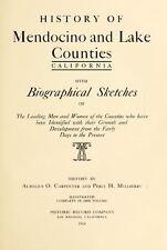 1914 MENDOCINO, LAKE County, California CA, History and Genealogy DVD V95