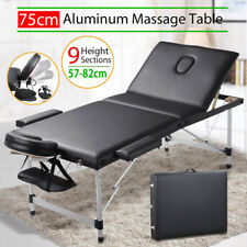 Portable Aluminium Massage Table 3 Fold Bed Therapy Waxing 75cm salon bed bench