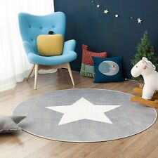 Star Doormat round Carpet Kid's Room Soft Plush Anti-slip Kid's Carpet