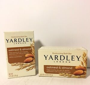 2- YARDLEY London Oatmeal Almond Soap 4.25 OZ ea