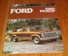 Original 1980 Ford Pickup Sales Brochure F-100 F-150 F-250 F-350 Ranger Truck