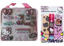 SANRIO  HELLO KITTY HAIR ACCESSORY SET AND  COLOR HAIR SPRAY WITH STENCILS