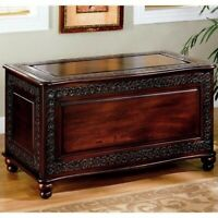 Coaster Cedar Blanket Chest in Deep Tobacco